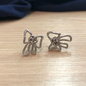 Marc by Marc Jacobs Sterling Silver Bow Earrings